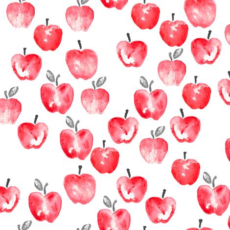 470x469 Watercolor Apples