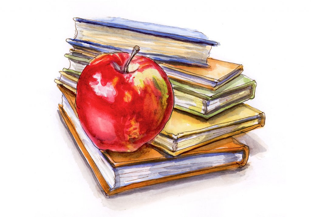 1024x716 ~ An Apple For The Teacher