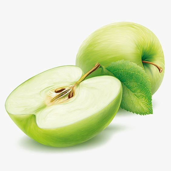 564x564 Green Apple, Creative Fruit, Apple, Watercolor Apple Png Image And