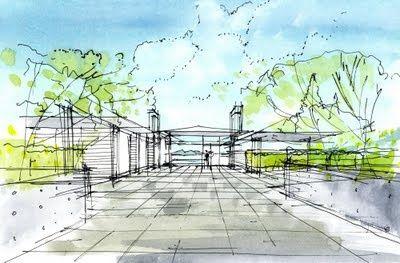 400x263 Bowen Island House Bai Architects Sketch