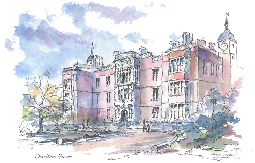 500x319 Collection Of Free Drawing Architecture Watercolour. Download On