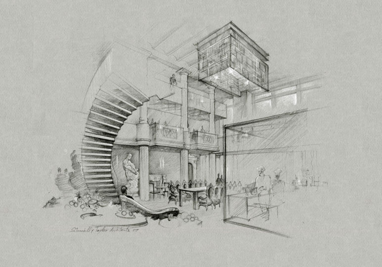 772x541 Pencil Architectural Renderings Amp Sketches