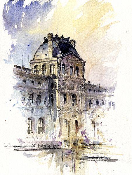452x600 Sketching And Watercolor Al Kline Watercolors