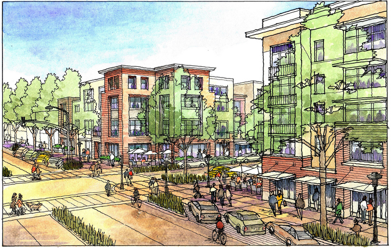 800x508 Watercolor Rendering Of Mixed Use Project Proposed By San