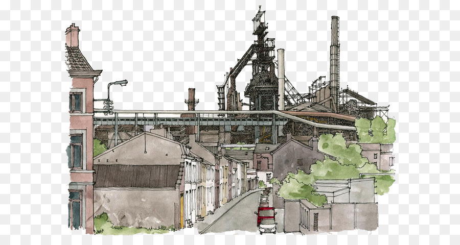 900x480 Architecture Drawing Watercolor Painting Illustrator Illustration