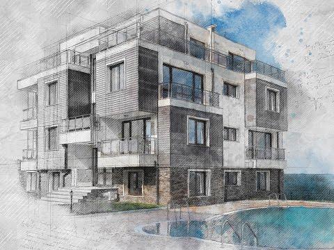 480x360 Architecture Sketch Photoshop Effect Tutorial