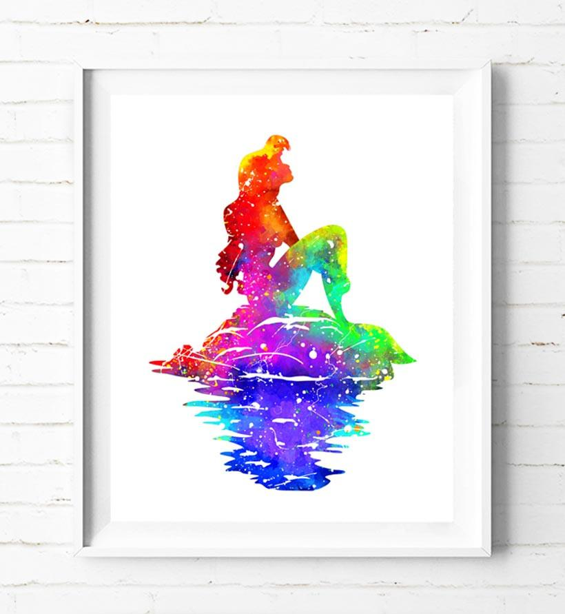 820x891 Disney Princess Ariel Art Print The Little Mermaid Poster