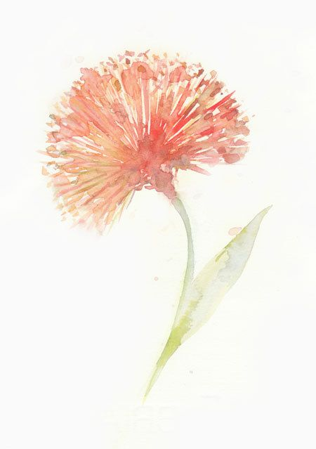 450x639 Flower Flower Print Giclee Giclee Flower Watercolor Art Print