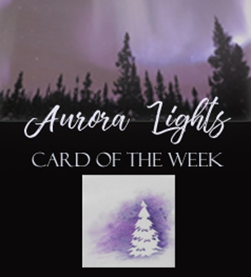 500x553 Aurora Lights, A Shimmer Watercolor Winter Card ~ Kim Amp Ink