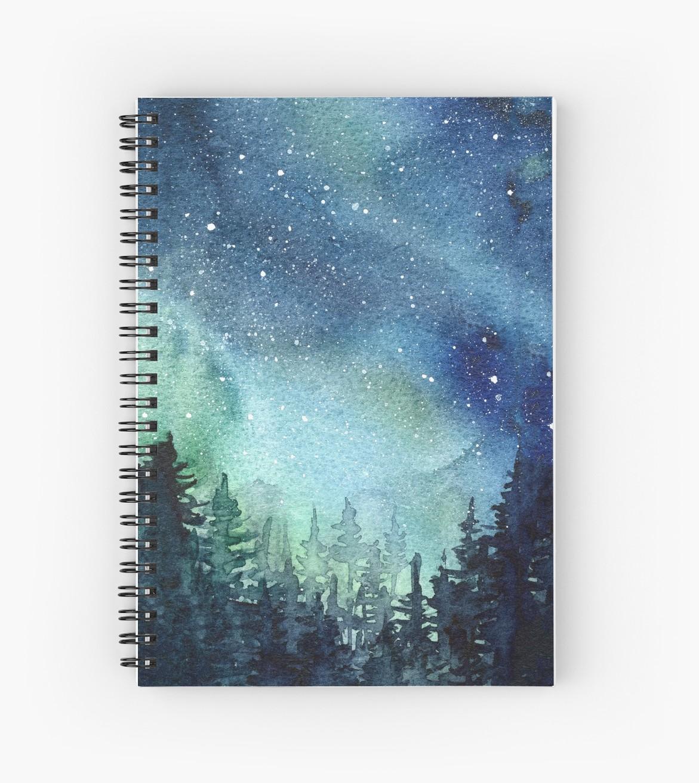 1171x1313 Watercolor Galaxy Nebula Aurora Northern Lights Painting Spiral