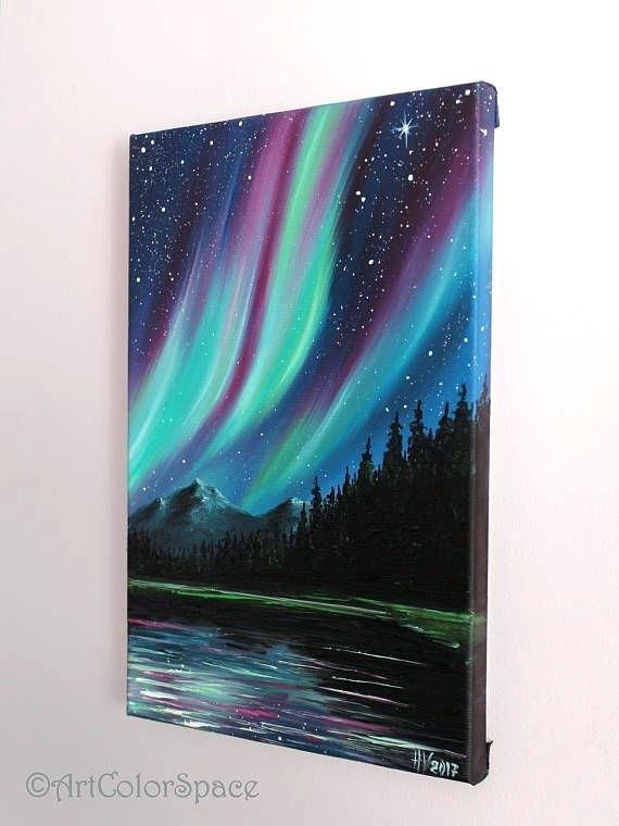 570x760 Aurora Borealis Painting Acrylic Peternguyen