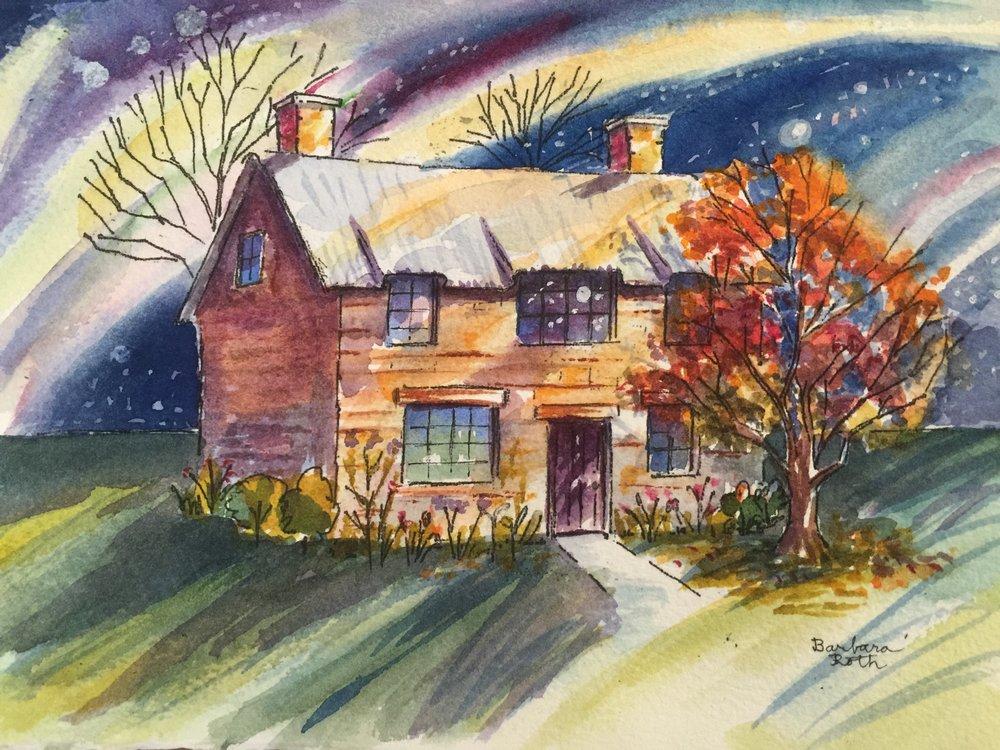1000x750 Aurora Borealis Watercolor Anywhere Art