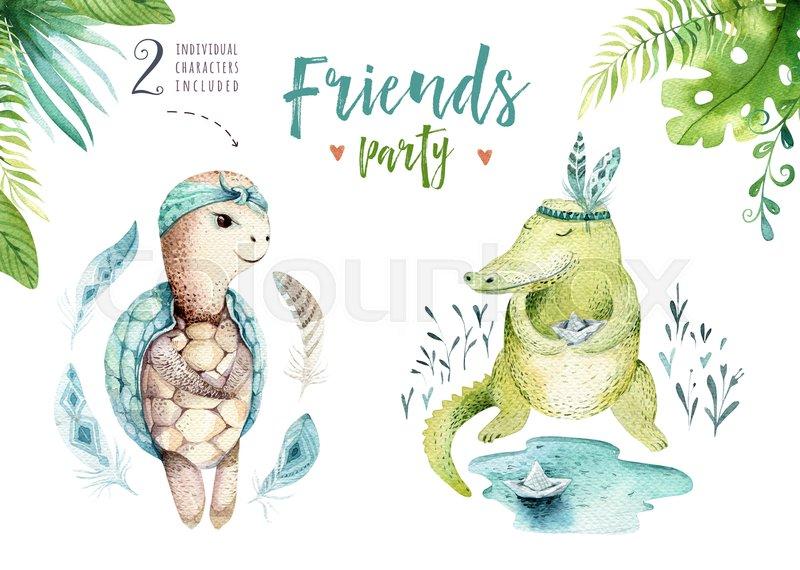 800x570 Baby Animals Nursery Isolated Illustration For Children