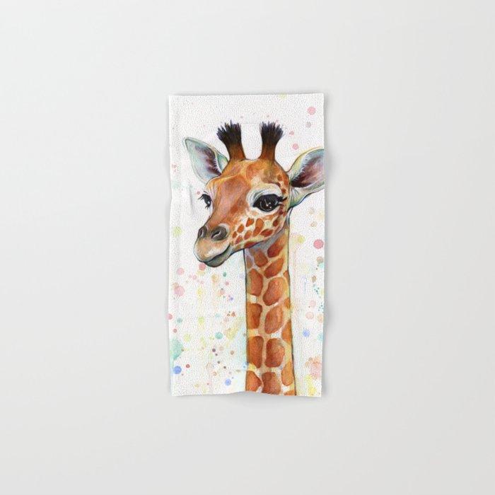 700x700 Giraffe Baby Animal Watercolor Whimsical Nursery Animals Hand