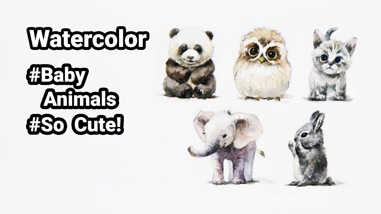 1280x720 Painting Baby Animals With Watercolor