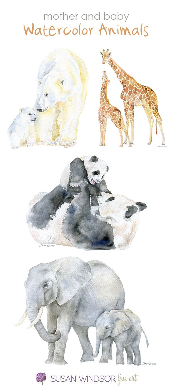 600x1369 Watercolor Animals