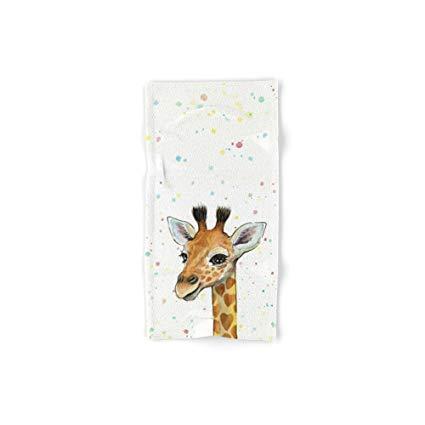 425x425 Society6 Giraffe Baby Animal With Hearts Watercolor