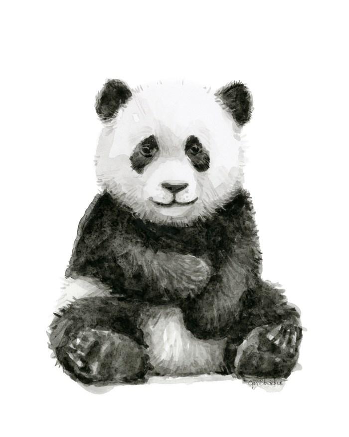 700x875 Baby Panda Whimsical Animal Watercolor Cute Baby Animals Wallpaper