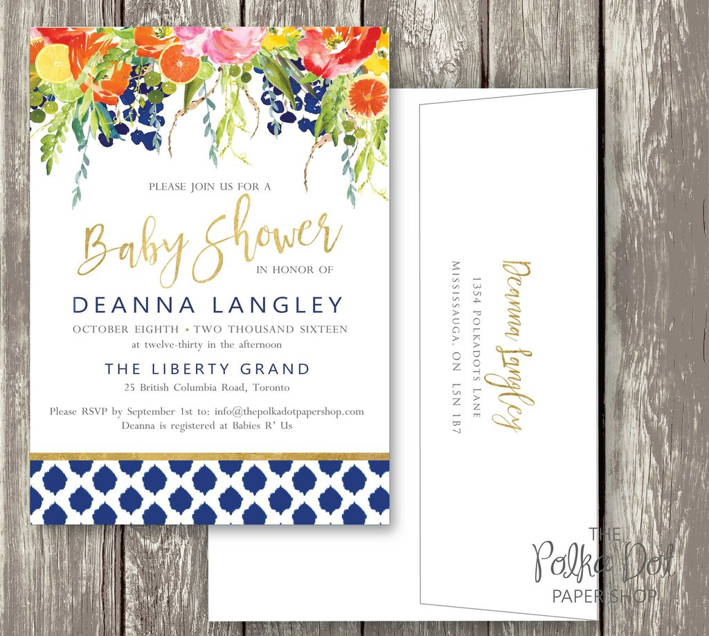 1024x918 Bright Flower Watercolor Baby Shower Or Bridal Shower Invitation