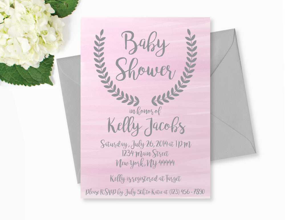 1000x773 Pink Watercolor Baby Shower Invitation Baby Shower Invitations Sos