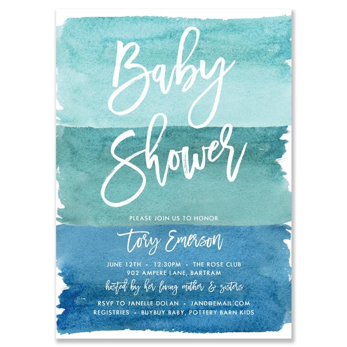 700x700 Turquoise Watercolor Ombre Baby Shower Invitations