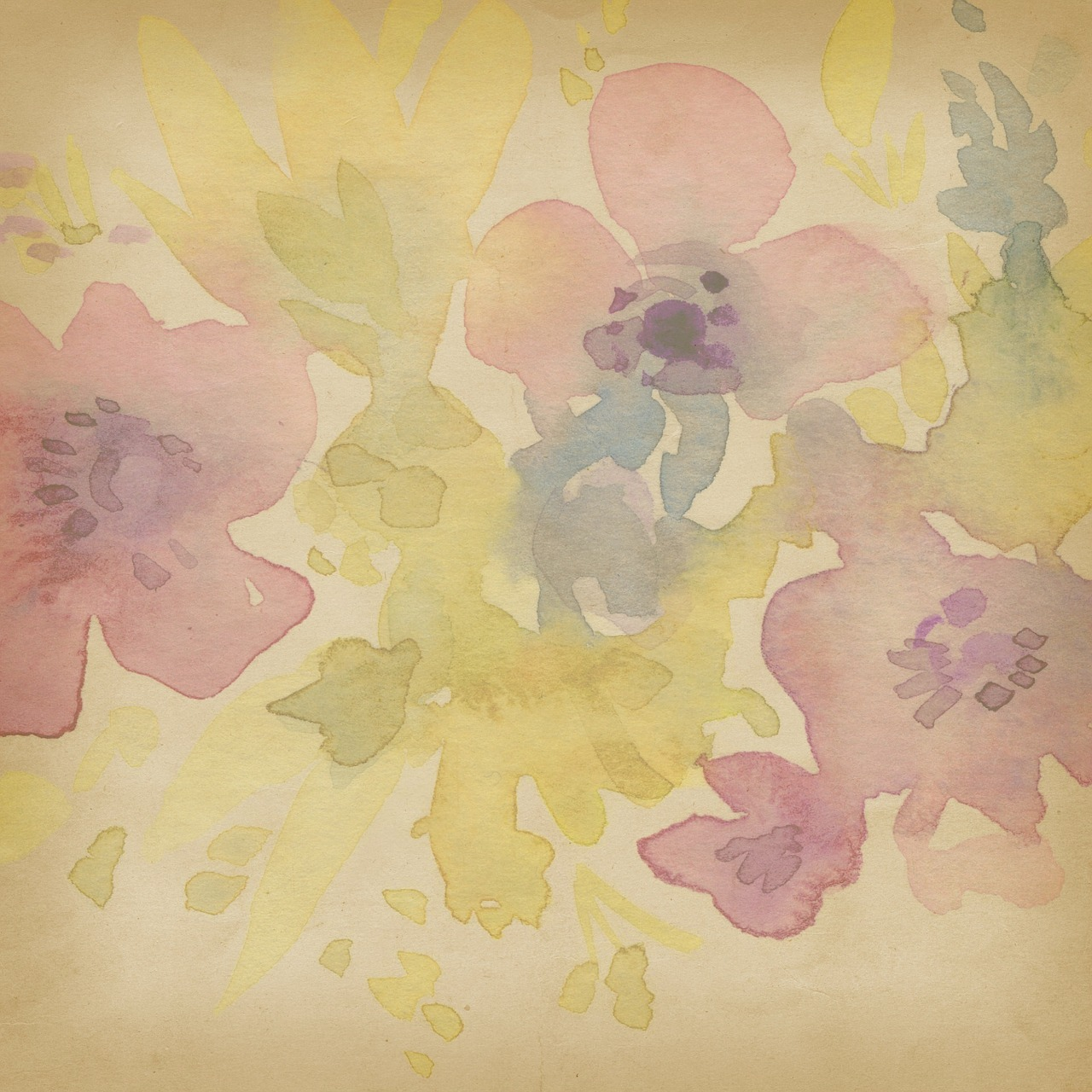 1280x1280 Background,watercolor,pastel,scrapbook,watercolor Background