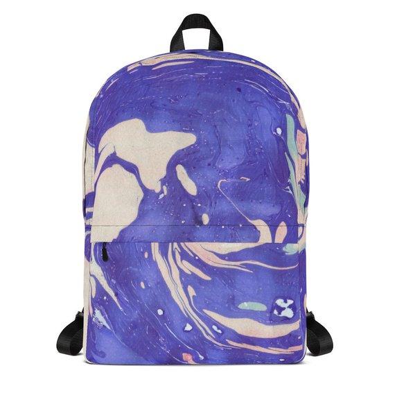 570x570 Marble Swirl Backpack Watercolor Backpack Marble Backpack Etsy