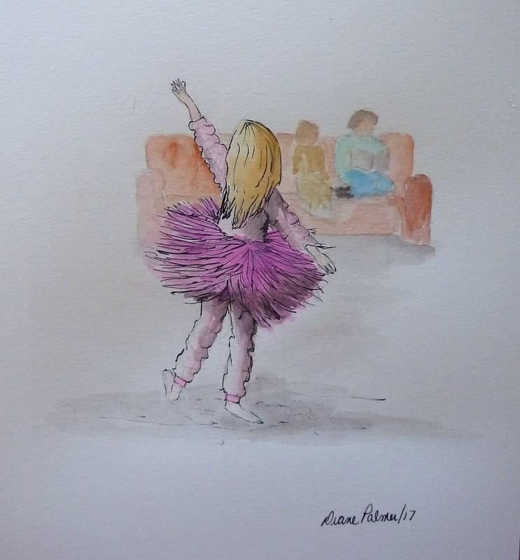 Watercolor Ballet Skirt