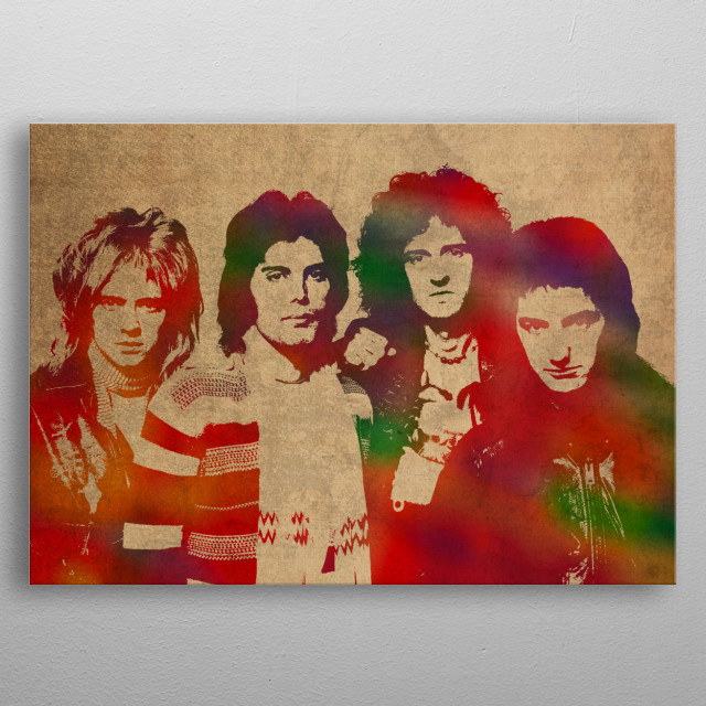 640x640 Queen Band Watercolor By Design Turnpike Metal Posters