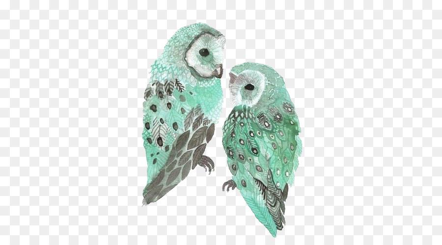 900x500 Barn Owl Sticker Blue Snowy Owl
