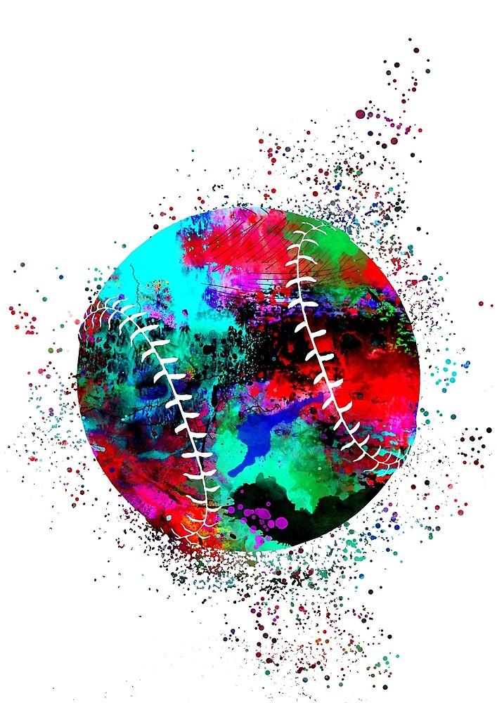 707x1000 Baseball Ball, Watercolor Baseball Ball By Rosaliartbook Redbubble