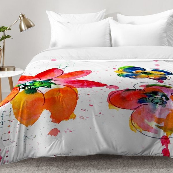 600x600 East Urban Home Summer In Watercolor Comforter Set Wayfair