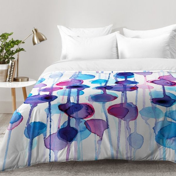 600x600 East Urban Home Watercolor Comforter Set Wayfair