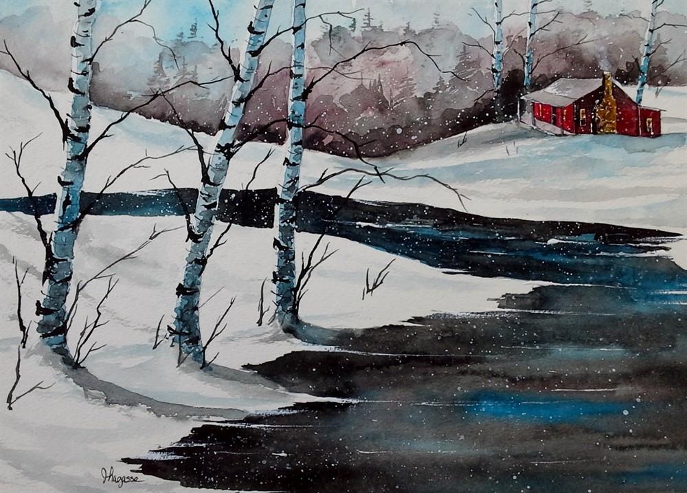 1000x717 Original Painting Watercolor Painting Original Watercolor Birch