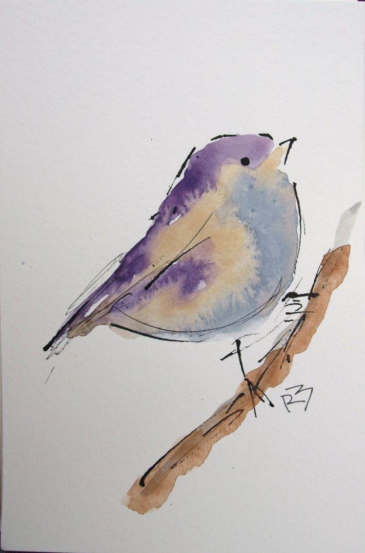 Watercolor Birds Tutorial