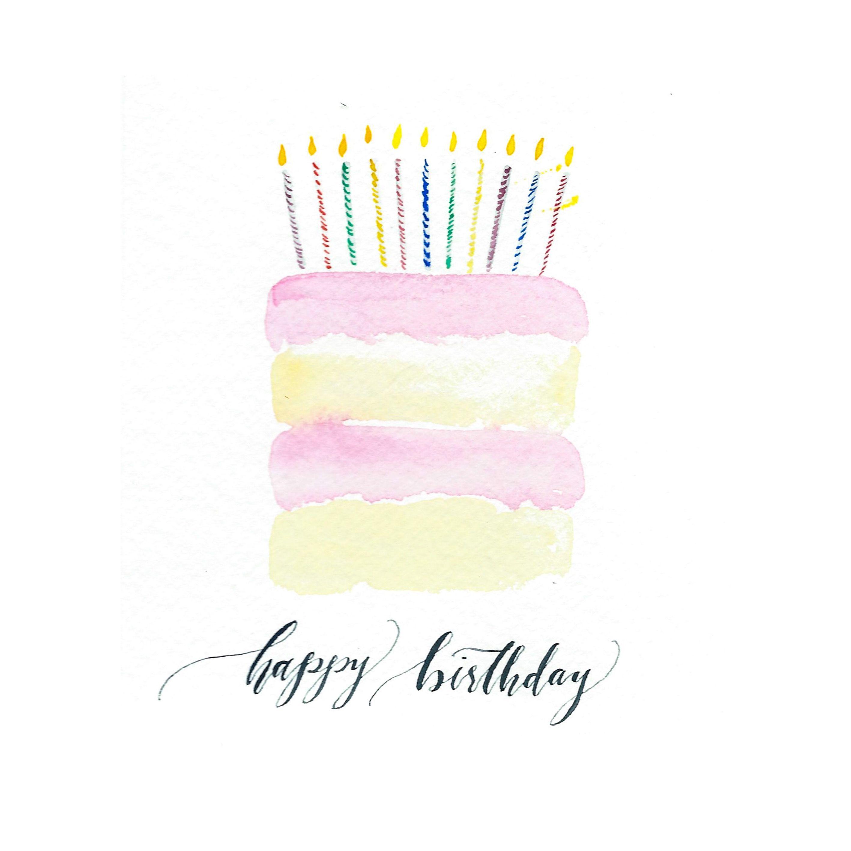 2835x2835 Happy Birthday Cake Watercolor Happy Birthday