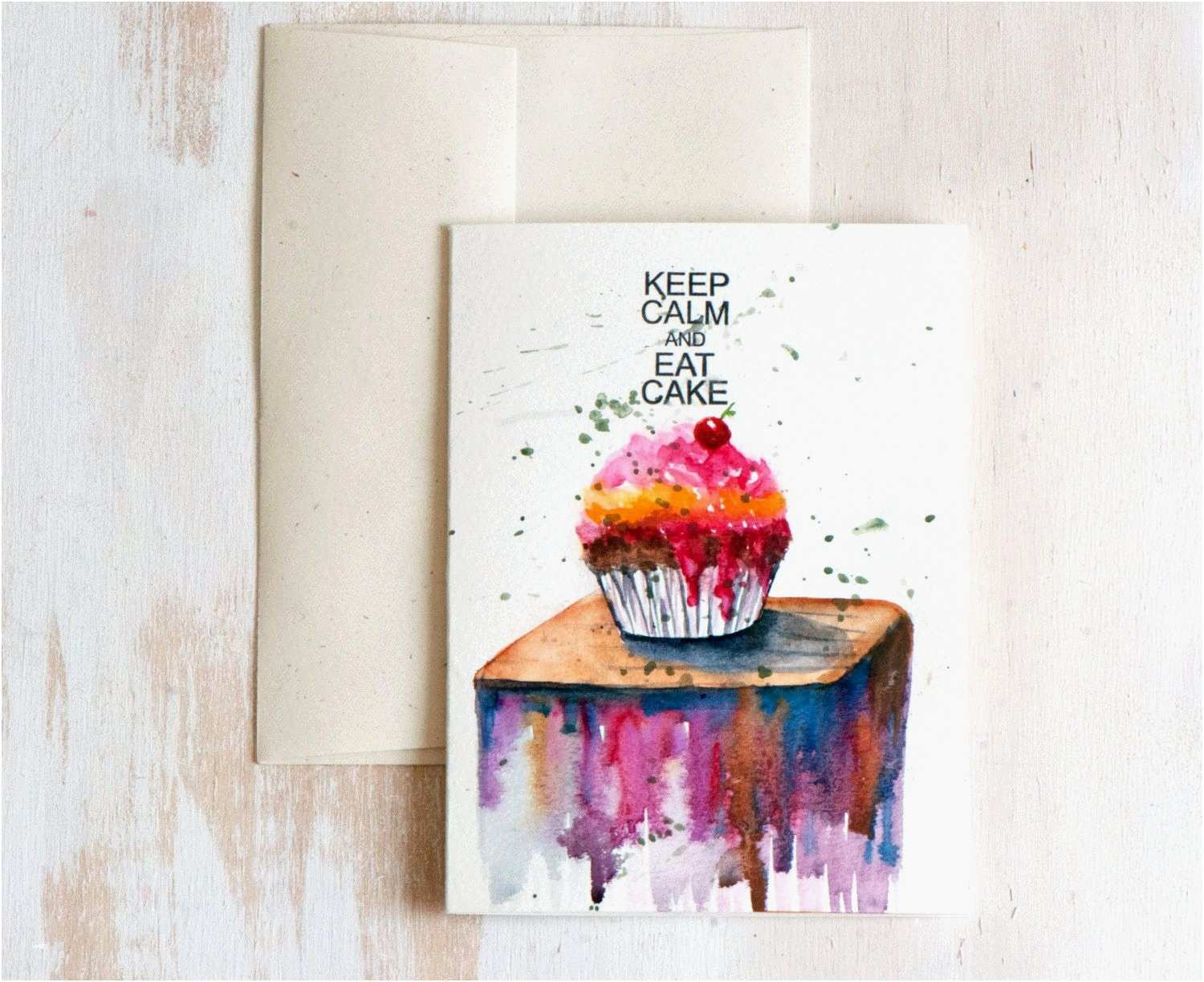 1500x1223 Watercolor Birthday Card Awesome Hand Painted