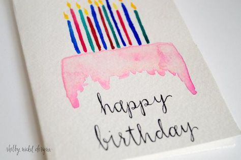 474x315 Watercolor Birthday Card Idea Handmade Cards