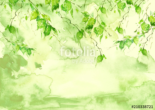 500x354 Watercolor Green Background, Blot, Blob, Splash Of Green Paint On