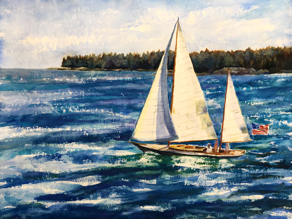 1000x751 Sailboat Painting Tutorial Watercolor Painting Tutorial