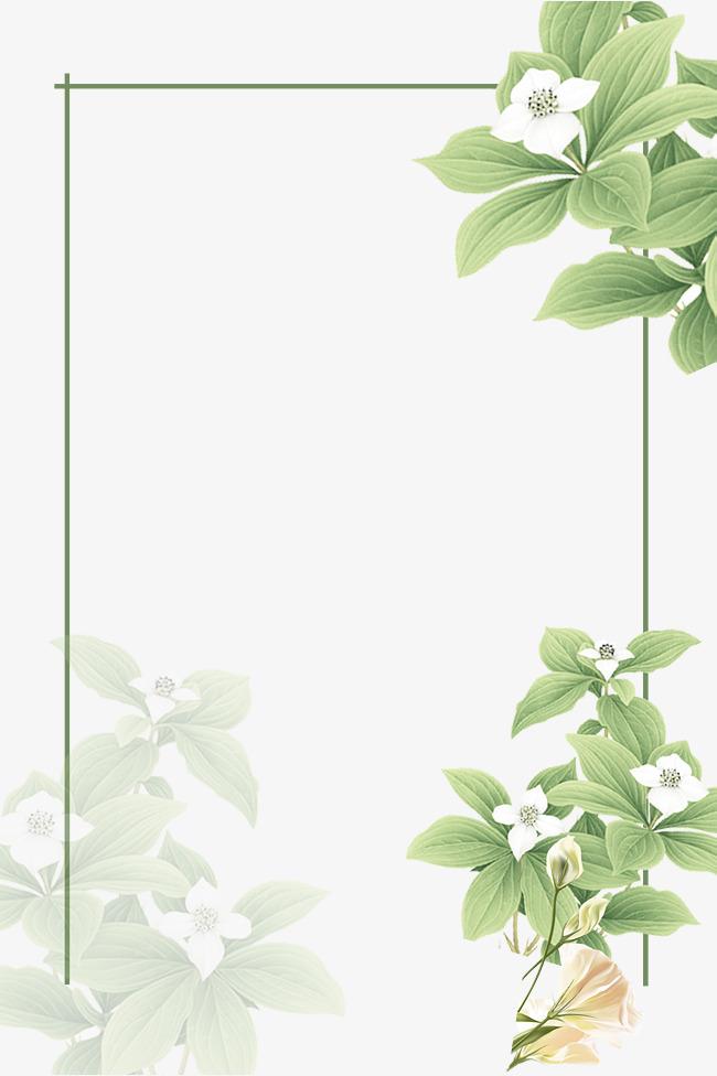 Beautiful Green Flower Vine Border, Thin Flower Vine ... |Green Flower Border