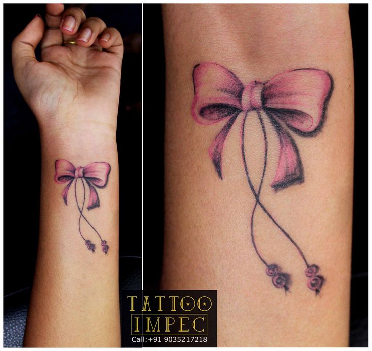 736x695 Beautiful Bow Tattoos And Meanings