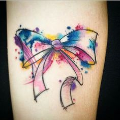 236x236 Water Colour Bow Tattoo Never Let Life Kill Your Spark
