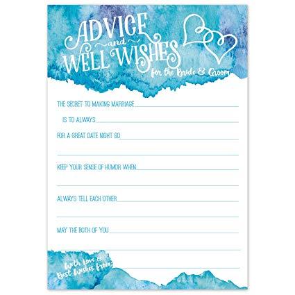 425x425 Wedding Advice Cards (50 Count)