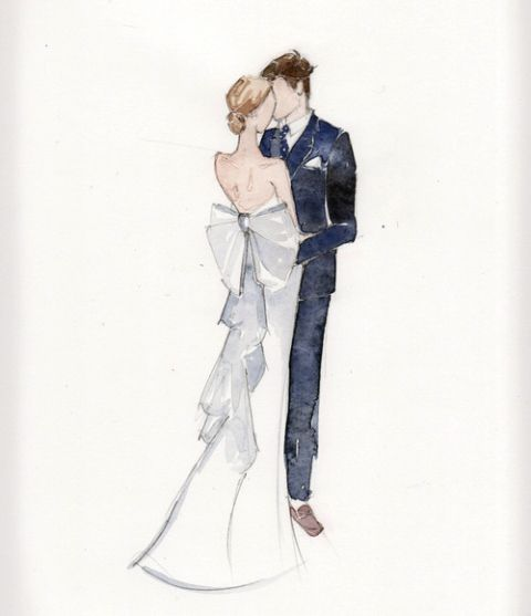 480x557 Love The Idea Of A Painting Of The Couple For A Wedding Gift! Nic