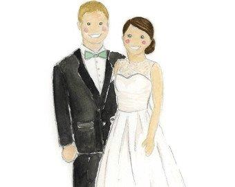 340x270 Wedding Watercolor Etsy