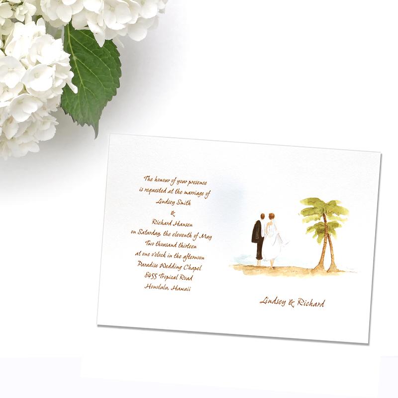 800x800 Beach Wedding Invitations