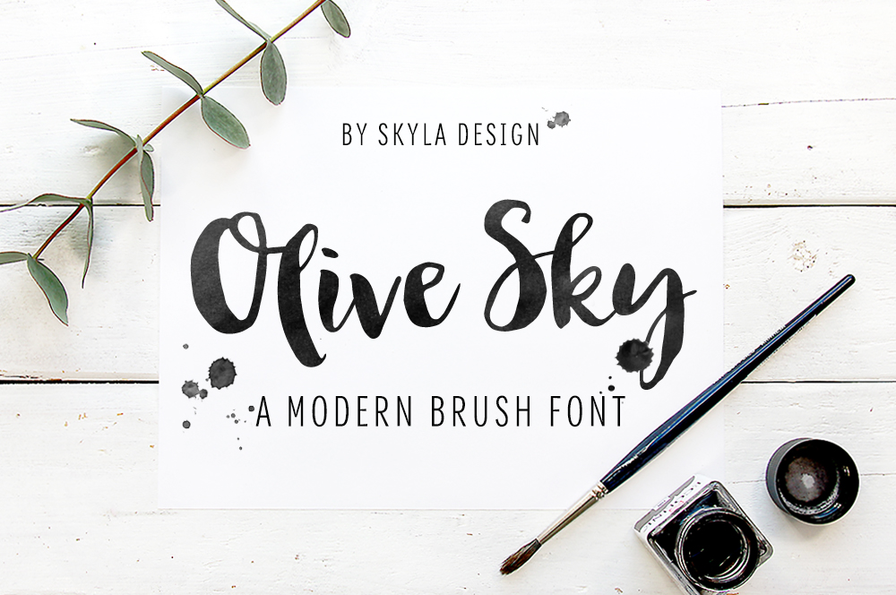 Watercolor Brush Font at GetDrawings com   Free for personal use