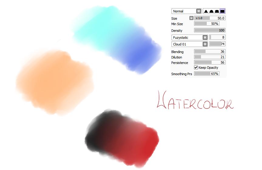 Watercolor Brush Paint Tool Sai