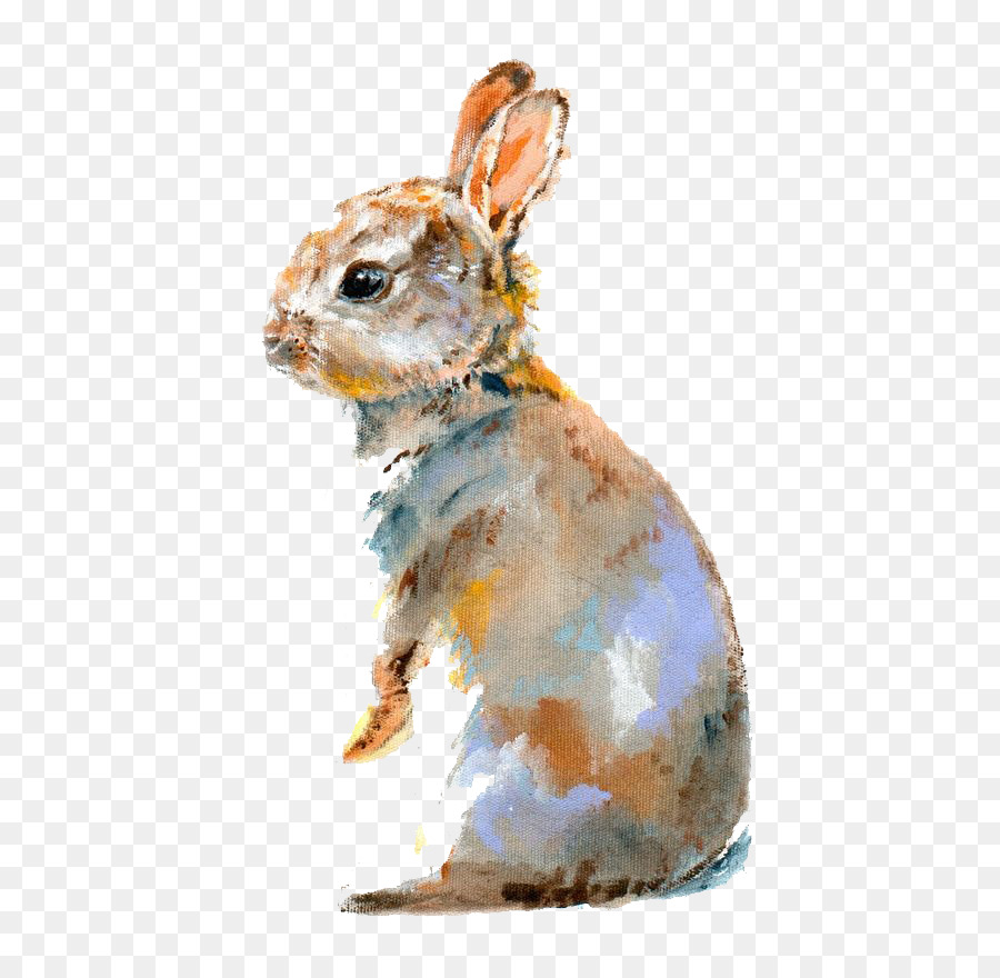 900x880 Lionhead Rabbit Domestic Rabbit Bugs Bunny Watercolor Painting